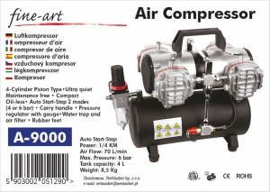 Fine Art 9000A Kompresor czterotłokowy