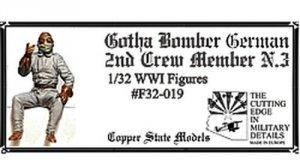 Copper State Models F32-019 German Gotha Bomber 2nd Crew Member N.3 1:32