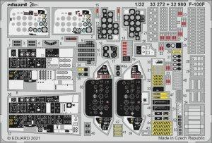 Eduard 32980 F-100F interior TRUMPETER 1/32
