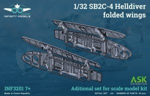 Infinity Models INF3201-07+ SB2C-4 Helldiver folded wings 1/32