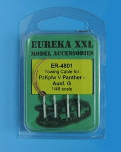 Eureka XXL ER-4801 Towing cable for Pz.Kpfw.V Panther Ausf.G Tank 1/48