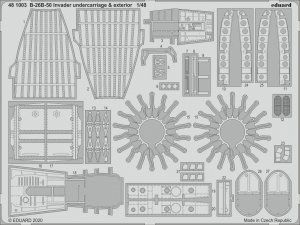 Eduard 481003 B-26B-50 Invader undercarriage & exterior for ICM 1/48