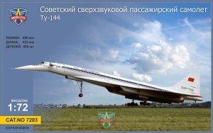 Modelsvit 7203 Tupolev Tu-144 Supersonic airliner 1/72