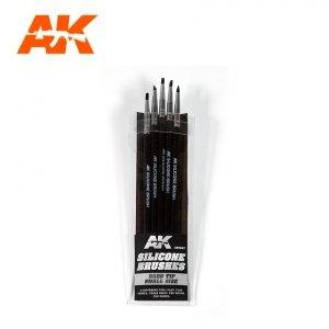 AK Interactive AK 9087 SILICONE BRUSHES HARD TIP SMALL 5 pcs