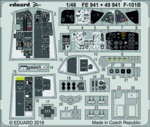 Eduard 49941 F-101B interior 1/48 KITTY HAWK