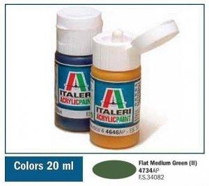 Italeri 4734 FLAT MEDIUM GREEN (II) 20ml