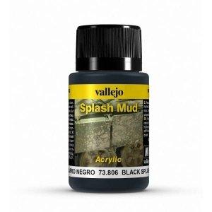 Vallejo 73806 Splash Mud -  Black Splash Mud 40ml