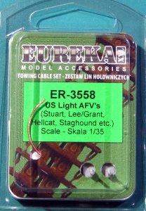 Eureka XXL ER-3558 Towing cables for US Light AFV's (Stuart, Lee/Grant, Hellcat, ect) 1/35