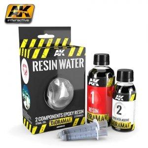 AK Interactive AK 8043 Resin Water 2 Components Epoxy Resin 375ML
