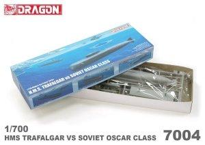 Dragon 7004 H.M.S. Trafalgar vs Soviet Oscar 1/700
