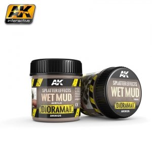 AK Interactive AK 8026 Splatter Effects Wet Mud 100ML