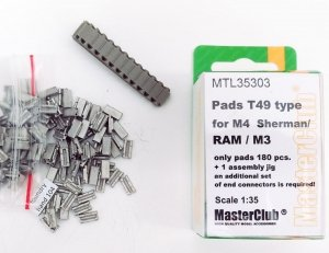 MasterClub MTL-35304 Pads T51 type for M4 Sherman/M3/RAM 1:35