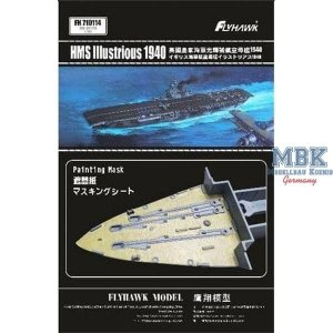 FlyHawk Model FH710114 HMS Illustrious Painting Mask (Flyhawk FH1116) 1/700