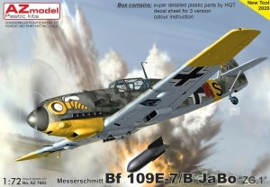 "AZ Model AZ7683 Bf 109E-7/B JaBo ""ZG.1"" 1/72"
