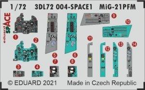 Eduard 3DL72004 MiG-21PFM SPACE 1/72