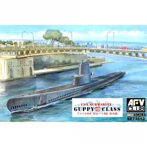 AFV Club SE73512 USN Submarine Guppy 1B Class (Italian Navy SS Leonardo Da Vinci) 1/350