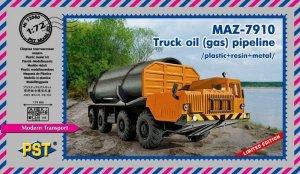 PST 72080 MAZ 7910 - Truck Oil (Gas) Pipeline 1/72