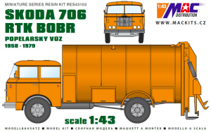 MAC RES43104 Škoda 706 RTK BOBR 1/43