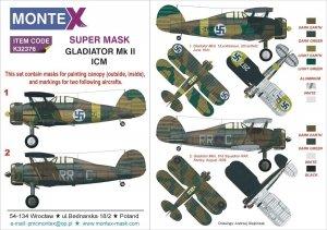 Montex K32376 Gladiator Mk II ICM 1/24