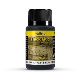 Vallejo 73812 Thick Mud - Black Mud 40ml