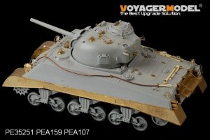 Voyager Model PEA159 WWII USMC M4A2 Mid Tank Late Version Side Skirts (For DRAGON Kit) 1/35