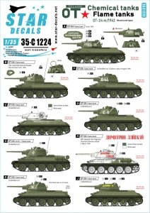 Star Decals 35-C1224 Red Army OT-34 Flame tanks 1/35