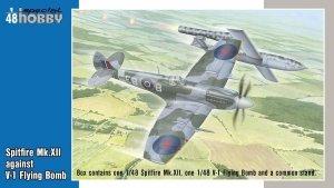 Special Hobby 48192 Spitfire Mk.XII against V-1 Flying Bomb 2 modele + figurka 1/48