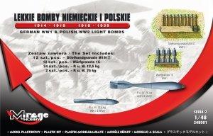Mirage 248001 Lekkie Bomby Niemieckie i Polskie 1914-1918/1918-1939 1:48
