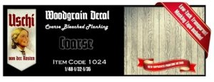 Uschi 1024 Wood Grain Decal Coarse Bleached Planking