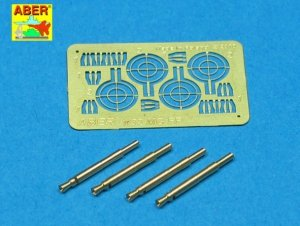 Aber A32008 Set of 4 barrels for German Oerlikon 20mm aircraft machine guns MG FF with sights (1:32)
