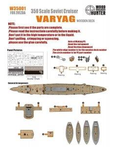 Wood Hunter W35001 Wood Deck Imperial Russia Varyag for Zvezda 1/350