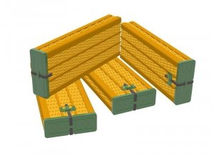 Panzer Art RE35-646 Willow ammo containers for 88mm FlaK/KwK36 early pattern (6pcs) 1/35
