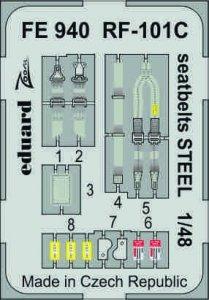 Eduard FE940 RF-101C seatbelts STEEL 1/48 KITTY HAWK