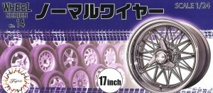 Fujimi 193557 Wheel Series No.14 Normal Wire Silver Type 17-inch 1/24