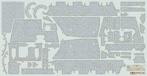 Tamiya 12673 Brummbar Zimmerit Coating Sheet (1:35)