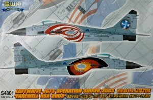 Great Wall Hobby S4801 Luftwaffe JG 73 Operation Sniper 2003 MiG-29 9-12 Late Type 1/48