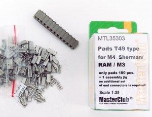 MasterClub MTL-35303 Pads T49 type for M4 Sherman/M3/RAM 1:35
