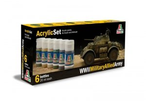 ITALERI 440AP - WWII Military Allied Army - Acrylic Set