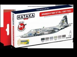 Hataka Hobby HTK-AS109 Ukrainian AF Vol. 2 (Grey Pixel) Paint Set 6x17 ml
