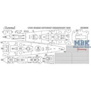 FlyHawk Model FH710075 German Battleship Scharnhorst 1943 Painting Mask 1/700