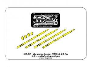 Aber 35L-213 Barrels for Russian ZSU-23-4 Shilka Self-propelled AA gun (1:35)