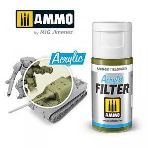 Ammo of Mig 0811 ACRYLIC FILTER Yellow Green 15 ml