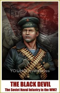 Young Miniatures YM1821 The Black Devil The Soviet Naval Infantry in the WW2 1/10