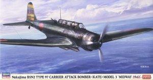 Hasegawa 07499  Nakajima B5N2 Type 97 Carrier Attack Bomber (Kate) Model 3 'Midway 1942' 1/48