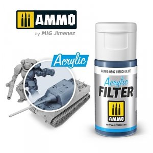 Ammo of Mig 0807 ACRYLIC FILTER French Blue 15 ml