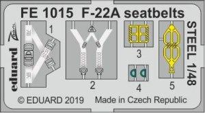 Eduard FE1015 F-22A seatbelts STEEL HASEGAWA 1/48