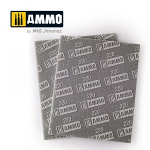 Ammo of Mig 8557 Sanding Sponge Sheet 220 gąbka ścierna