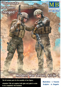 Master Box 24068 Modern War Series, kit No. 1. Our route has been changed! 1/24