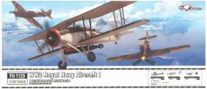 FlyHawk Model FH1129 WW2 Royal Navy Aircraft I Includes 6 Fairey Fulmar, 8 Fairey Swordfish & 4 Hawker Sea Hurricane 1/700