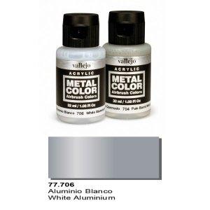 Vallejo 77706 Metal Color- White Aluminium 32ml